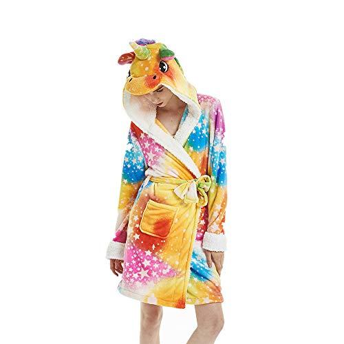 Accappatoio Unicorno colorato con Star Accappatoio da Donna Accappatoi Animali Sleepwear con Cappuccio