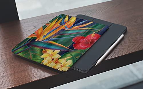 MEMETARO Funda para iPad (9,7 Pulgadas 2018/2017 Modelo), Pájaro Floral Paraíso Tropical Hawai Smart Leather Stand Cover with Auto Wake/Sleep