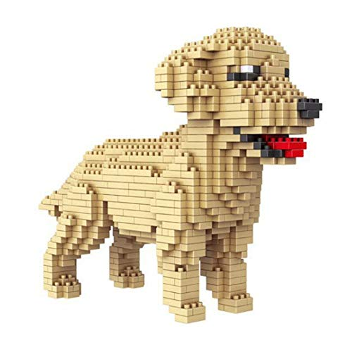 SYZXH 950+ PCS Dog Building Blocks Toys Golden Retriever DIY Modelo Building Blocks Fiesta De Cumpleaños Regalos Chicos Y Niñas