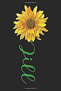 Jill: A cute sunflower floral personalized Lined notebook gift idea for Women or little girls named Jill to make her smile...