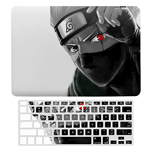 Narut-o Anime Kakashi MacBook Air 13 inch Case Hard Shell Case Cover for 2010-2017 MacBook Air 13 inch (Model A1466 / A1369) and Keyboard Cover Compatible MacBook Air 13 - Anime