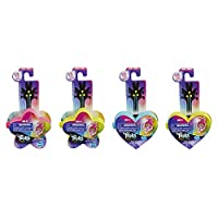 DREAMWORKS TROLLS World Tour Tiny Dancers Surprise 4-Pack Series 1, Tiny Dancers Dolls, Clips, Rings, and Glasses, Toy for Kids 4 and Up (E9133)