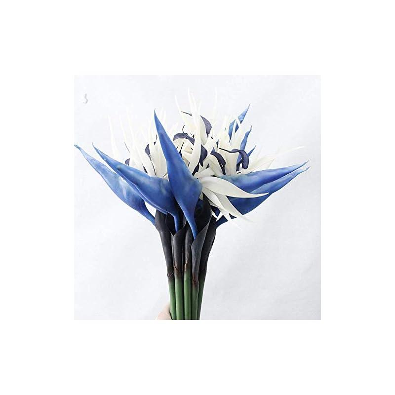 silk flower arrangements dodxiaobeul large bird of paradise 33 inch permanent flower,flower stem 0.5 inch,flower part is made of soft rubber pu,artificial flower plants for home office 2 pcs