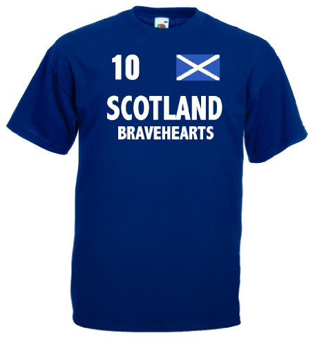 world-of-shirt Herren T-Shirt Schottland Bravehearts Trikot|m-l