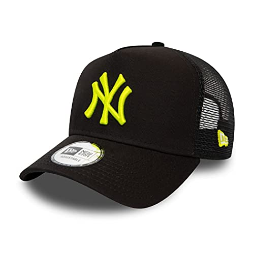 New Era York Yankees MLB Cap Trucker verstellbar Basecap Kappe Baseball Schwarz - One-Size