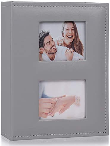 RECUTMS Photo Albums 4x6 Photos 200 Pocket Black Pages Album PU Leather Slip in Photo Picture product image