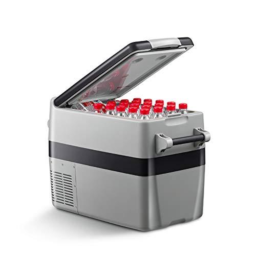 Draagbare compressor-koelkast 44 liter, mini-koelkast met vriesvak voor rijden, reizen, vissen, outdoor en thuis: 12/24 V DC en 220 V AC