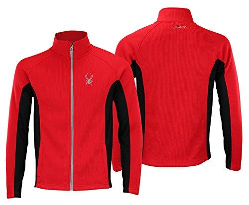 Spyder Mens Full Zip Sweater Racing Red S