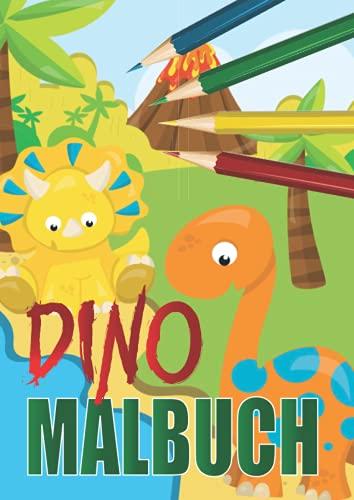Dino Malbuch für Kinder: Dinosaurier Malbuch zum Ausmalen für Kinder von 4 - 8 Jahren