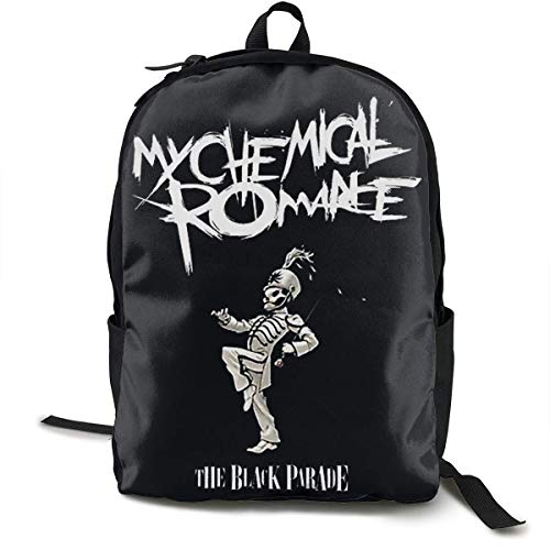 Lightweight My Chemical Romance Printed School Backpack Water Resistant Travel Rucksack Bag Laptop Backpack Daypack,17 Inch