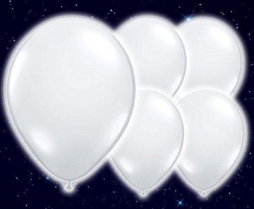 AlterEGlow Illoom Lot de Ballons Lumineux–Pack de fête Blanc