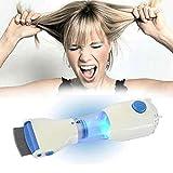 Peine eléctrico para pulgas, removedor automático de piojos, peine eléctrico para piojos, solución sin químicos para piojos, para piojos y sus huevos, aspirador de cabello, con filtro reemplazable