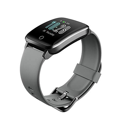 LZXMXR Smart Watch, Pulsera de recordatorio de Llamadas, 11 podómetro Deportivo, Reloj de recordatorio de Mensajes Inteligentes Bluetooth (Color : Silver Gray)