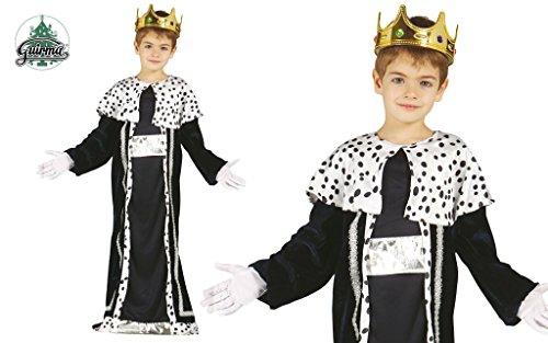 Guirca König Balthasar Kostüm für Kinder Krippenspiel die heiligen DREI Könige Kirche Weihnachten Gr. 98-146, Größe:128/134