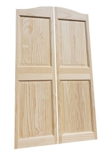 Louvered Hinges Included Saloon Western Bar Pub Batwing Prefit for Custom 35 Finished Opening Width Pine Finished White Cafe Doors from Managed Forestry Cafe Doors by Cafe Doors Emporium