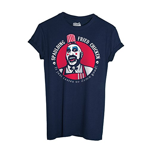 MUSH T-Shirt Rob Zombie Captain Spaulding Movie - Film by Dress Your Style - Herren-XL-Blau