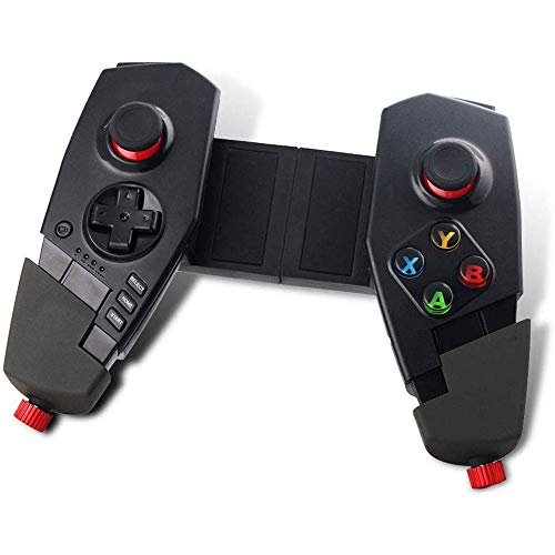 LMDSin Hilos del Juego Gamepad, telescópica Extensible Joystick for Tablets Móviles, Compatible con PC, Android