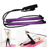 MonH Pilates bâton, résistance de Boucle Bandes d'exercice, Pilates Bar élastique Corde Total Body Workout Tonique Bar, Booty système d'exercice pour Le Yoga, Stretch, Sculpt, Torsion