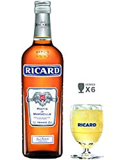 Ricard Pastis De Marseille 70 Cl + 6 Verres