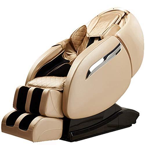 G-FLOOR-MAT 3D Massagesessel, Multifunktions-Ganzkörpermassager, Relaxsessel, Mit Lautsprechern Luftkissentechnik, Nackenmassage Wärmemassage Im Rücken,C