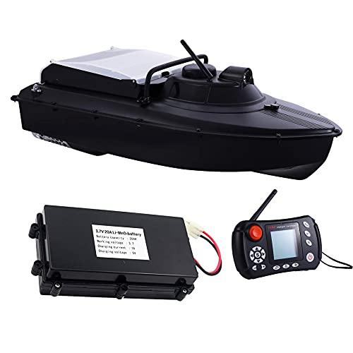 HYLDM Barco de Cebo de Barco RC con ecosonda y Pesca GPS, Barco de Cebo, Barco de Cebo de Crucero automático de 1000 distancias con estiramientos de batería de 20000Mah Compartimentos de