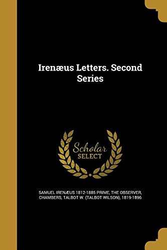 IRENAEUS LETTERS 2ND SERIES
