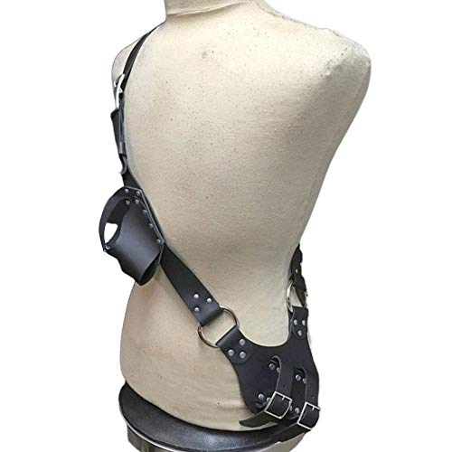 Funda De Cuero para Hombro Universal Medieval Piel Genuina Espada Cinturón Táctico Ajustable Hombro Pistolera, Accesorios De Cosplay Espada Soporte De Exhibición Soporte De Cinturón