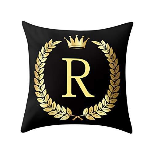 Letter Hug Pillowcase Pillow Cover Black and Gold Letter Pillowcase Sofa Cushion Cover Home Decor Pillow Case Big Sales R