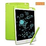 RichgvTableta de Escritura LCD, Tablero Negro Inteligente Juguetes de Aprendizaje Tablero de Dibujo Electrónico Escritura a Mano y Doodle Pad para Niños y Adultos (8.5 Pulgadas, Verde)