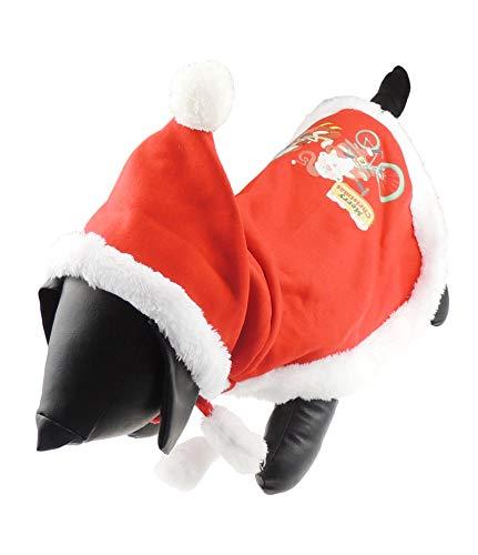 Glamour Girlz Festive Navidad Perros Gatos Rojo Santa Claus Cloak Cape Coat Disfraz