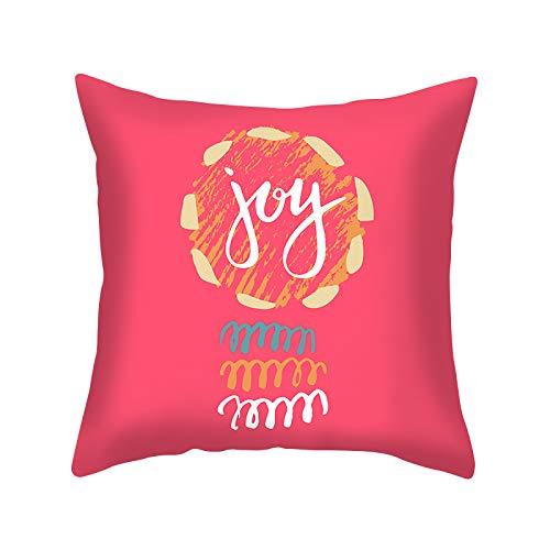 XINRJY 3D Christmas Deer Print Pillowcase Soft Skin-Friendly And Dirt-Resistant Bedding Bedroom Hotel Sofa Cushion