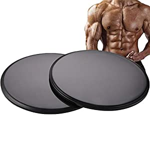 Exercise Core Sliders, 2 Pack Dual Sided Exercise Gliding Discs Use on All Surfaces, Abdominal Exercise Equipment,Sliders for Working Out Abdominal and Core Workouts