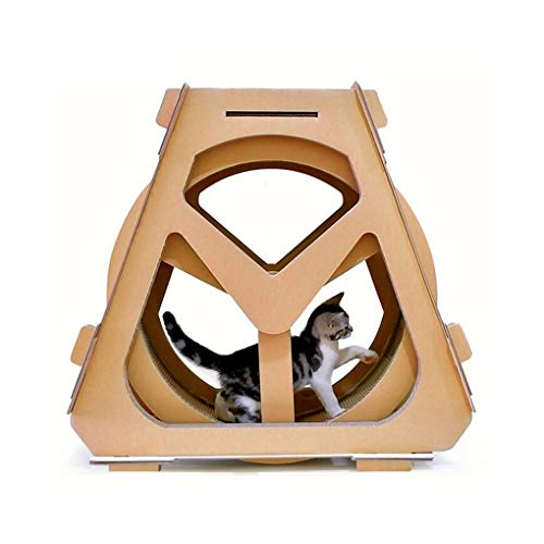 Wellpappe Laufband Riesenrad Haustier Möbel Katze Kratzbrett greifen krabbeln Regal Rad Rotation (Size : Trumpet)