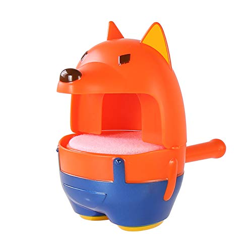 KingbeefLIU Mignon Fox Chick Spouting Bubble Blower Machine Toddlers Kids Bath Outdoor Toy Workout at Home Kids Play House Early to Teach Fun Toys Petit Poussin