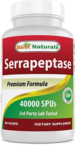Best Naturals Serrapeptase 40000 SPUs 90 Vcaps