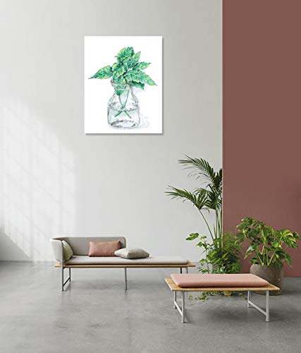 DIY Schilderen op nummerkinderen schilderen kitGroene plant in de fles met de hand beschilderd frameloos schilderij 40x50cm