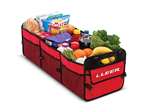 LEER Gear | Convertible Cargo Caddy | Collapsible 3 Compartment Cargo Caddy | Use for Groceries, Toys, and Storage | 1LG0201000