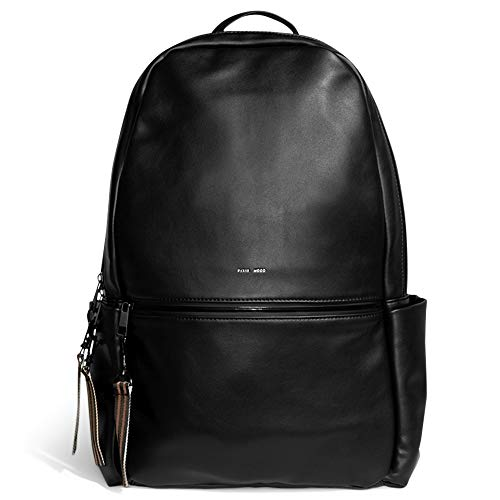 Pixie Mood Leila 17 x 12.5 Vegan Leather Convertible Backpack, Black