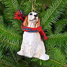 English Setter Miniature Dog Ornament - Orange Belton