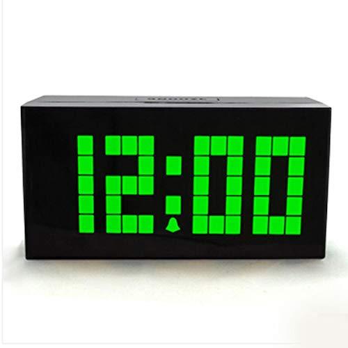 Reloj de Escritorio Analógico Espejo Reloj despertador digital LED multifunción Reloj despertador silencioso Dormitorio Decoración de la sala de estar (4 colores opcionales) Reloj de Escritorio Silenc
