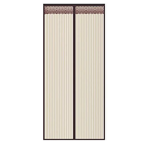 Mosquitera Magnética para Puertas,Mosquitera Puerta/Cortina Mosquitera Magnética para Puertas, Puerta de Pantalla Magnética Cierre Magnético Automático ( Color : Brown , Talla : 110x210cm(43x83inch) )