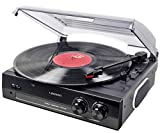 Lauson CL502 Record Player Vinyl Record Player Turntable USB, Vinyl-to-MP3, Vinyl Record Player 2 Speed, Stereo Built in Speakers, Belt in Driven, Black