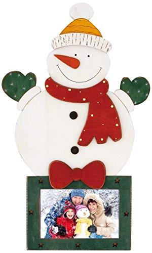 ZEP Tallin Portafotos Navidad, Madera, Blanco y Verde, 26.5x44x3 cm