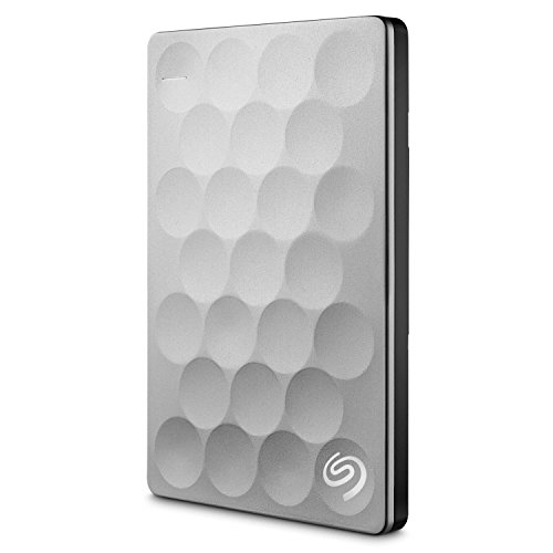 Seagate Backup Plus Ultra Slim, 2 TB, tragbare externe Festplatte, 2.5 Zoll, USB 3.0, PC, Notebook & Mac, platin, Modellnr.: STEH2000200