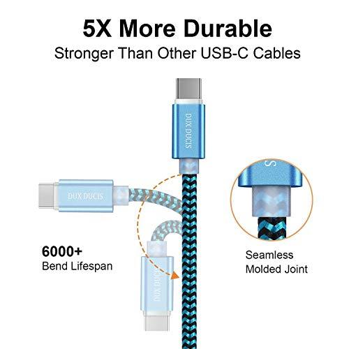 DUX DUCIS Kabel [2 Stück 1M] für Huawei P30 / Huawei P30 Pro/Huawei P30 Lite, Durable Nylon Supercharge USB C Ladekabel für All Huawei Type C Device - 5