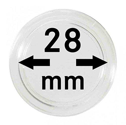 Lindner Münzkapseln für Münzen Ø 14 - 50 mm. Zur Wahl per 1, 5, 10, 100 Stück (28 mm - per 10)