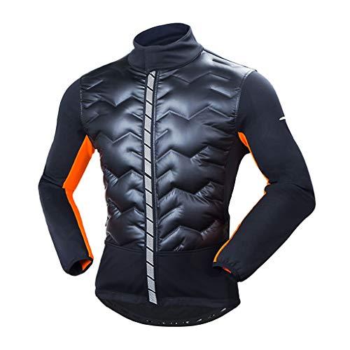 Jersey de ciclismo Ciclismo Chaqueta de invierno a prueba de viento capa de los hombres bici del camino hacia abajo algodón Ciclismo Traje de manga larga chaqueta de calentamiento Maillot ciclismo
