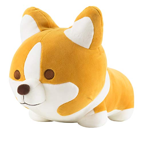 Redbey L/X 13.7-Inch Stuffed Animal Shiba Inu Plush Toy Pillow. Anime Corgi Akita Cute Plush Soft Pillow Hugging Doll Dog. Best Toy Gift for Girl Boy. (Brown)