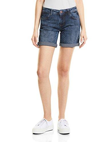 Street One Damen 371344 Kate Shorts, Blau (Dark Blue Vintage Wash 11385), 38(Herstellergröße: 30)