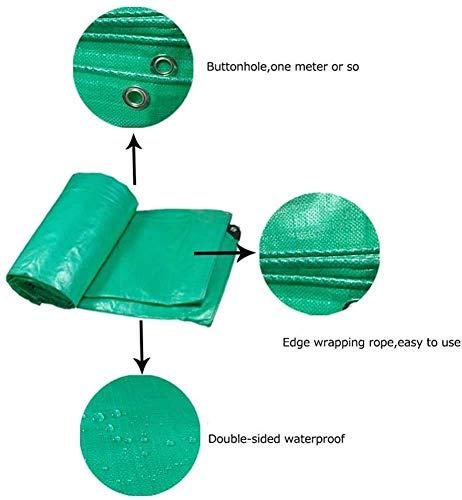 ZJZ Cubiertas para Muebles de jardín Cubierta de protección Lona Impermeable y Resistente a la Rotura Polietileno Protector con Ojales, 4 * 8 m / 13 * 26 pies, (Tamaño: 3 * 5 m / 10 * 16 pies)
